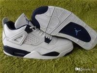 Jordan Air de alta calidad retro Retro 4 White Legend Azul Jordans Retros 4s 2015 314254-107 Midnight Navy LEGEND AZUL Con caja
