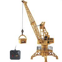 Wholesale Wire Control RC Crane Tower CH Fork Lift Construction Vehicle Playset Model Toys Degree Rotate