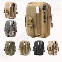 al por mayor monederos del ejército-7 colores del ejército táctico bolso colgando de los bolsos de los deportes al aire libre de la cartera de teléfono celular caso de la cintura bolsa bolso bolso de camuflaje CCA5231 100pcs