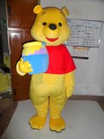 Wholesale Real Pictures Deluxe Winnie the Pooh BEAR Mascot costume cartoon character mascots for sale
