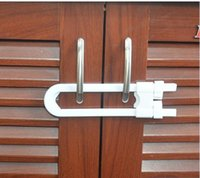 Wholesale Ship Cupboard - Free Shipping 1000pcs lot U type Baby Kid Safety Drawer Door Cabinet Cupboard Lock