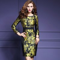 Wholesale 2017 autumn and winter new elegant high end jacquard long sleeved dress large size skirt women stalls pencil skirt QW74