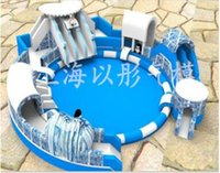 Wholesale Inflatable water park cartoon water inflatable swimming pool in the world