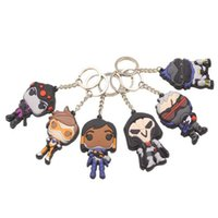 Wholesale Action Figure Keychain Cartoon Anime Figure Toys Gifts PVC Key Pendant Moana Suicide Squads Key Ring DHL Free