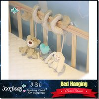 activity sets for kids - Cute Bear Rabbit Infant Babyplay Activity Spiral Bed Stroller Toy Set Hanging Bell Crib Cot Spiral Rattle Toys for Baby Kids