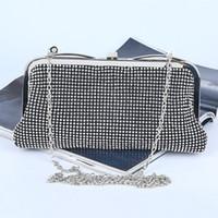 2017 Nouveau Elegant Lady Party Diamond sacs de soirée Mini sac de soirée Embrayages Femmes Shinning sac à main Porte-monnaie Or / Argent / Noire Sacs à main de mariée