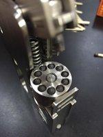 al por mayor mini diseño de acero-1 2 mini modelo de mecanismo preciso de la escala, diseño de los juguetes mecánicos del acero inoxidable 304, regalo maravilloso de la colección del revólver del arma de la pistola