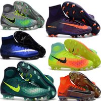 Soft Spike Unisex Outdoor Cheap Soccer Shoes Mercurial Superfly V FG Men High Quality 2017 ACC CR7 Football Shoes For Sale Cleats Magista Obra II Boots Size35-45