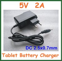 Wholesale Universal Charger V A DC mm Power Adapter Supply EU for Android Tablet PC Q88 Chuwi V88 Yuandao N70 U35GT2 DHL