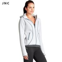 Wholesale Women Sports Hoodie Jacket Windproof Jacket Neoprene Feel Thumb Hole Cuffs Long Sleeve Running Coat Activewear Jackets