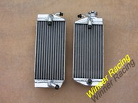 Wholesale aluminum radiator fit for Honda CRF450R CRF450 water box motorcycle replacement parts engine cooling parts