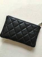 Wholesale Classic brand logo ms ling zipper purse sheepskin hand bag zero purse