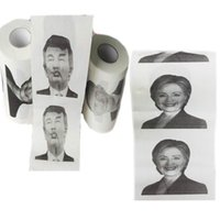 Wholesale 100pcs Hillary Clinton Donald Trump Barack Obama Toilet Paper Novelty Funny Toilet Paper Gag Gift