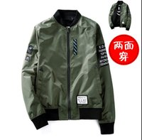 Men air jacke - Kanye West Y Jacket Ma1 Thin Style Army Green Military motorcycle Ma Flight Jacket Pilot Air Force Men baseball Coats Bomber Jacke