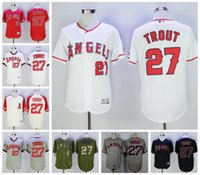 angels games - 2017 Los Angeles Angels jersey Mike Trout Elite Game version Baseball Jerseys home away Best quality Embroidery Mix Order