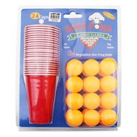 plastic beer cup - Beer Pong ball cup Kit party game