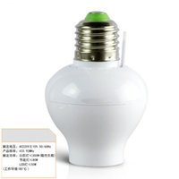 Wholesale One ways Long distance Wireless smart Lamp Bulb Holder With Remote Controller
