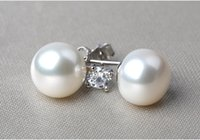 angels bright - Pure natural Freshwater Pearl earrings bright color fine texture full of temperament The best Gift for u and ur lover
