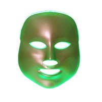 Wholesale 3 In Gold LED Photon Facial Mask For Skin Rejuvenation Whitening Wrinkle Remover Acne Treatment DHL