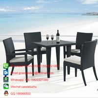 Wholesale Wicker garden furniture dining setsOutdoor NEW rattan garden dining table chair set