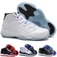 al por mayor hombres s zapatos del aire de baloncesto-La nueva alta calidad modelo del envío libre avienta la zapatilla de deporte del calzado del deporte del baloncesto de los hombres azules de la leyenda de los atascos del espacio 11 XI Zapatos