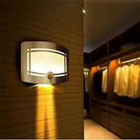 aluminum motion activated - Warm White Led Wall Light Aluminum Case Wireless Stick Wall Lamp Motion Sensor Activated LED Wall Sconce Night Light Sensor Corridor Lights