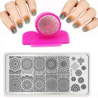 Wholesale X12cm Hot Fashion Nail Stamping PLates Set Plates Accessories Lace Stainles Nail Art Templates DIY Stamper Scraper Beauty
