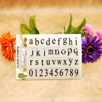 alphabet clear stamps - Scrapbook DIY photo cards account rubber stamp clear stamp transparent stamp English alphabet a z Number x16cm KW653102