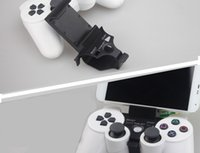 Wholesale 50 Pieces SmartPhone Clamp Mount Adjustable Bracket for Sony Playstation PS3 Game joypad Controller iphone Samsung Android Clip Holder