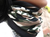 Wholesale Hot Selling Leisure camouflage Outdoor collar head cap fleece collar to protect face mask men and women Turban hat