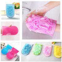 Glove bathe bathroom products - Bath Glove exfoliating gloves sponge towel bathroom accessories nylon bath gloves Bathing supplies bath products