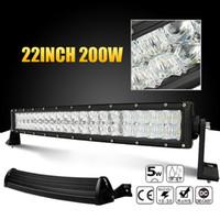 al por mayor luces de techo llevado de camiones-22 pulgadas 200W Combo LED 5D Bar CREE luz de trabajo para 4x4 camión ATV RZR remolque coche tope techo Offroad luz de conducción CLT_41G