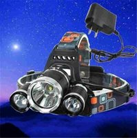 Wholesale HOT sales Lumen XCREE XM L T6 LED Headlamp Headlight Head Torch Lamp AC Charger Battery for Outdoor Camping
