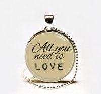 beatles songs - Handmade All you need is love necklace Love pendant jewelry The Beatles Lyrics Jewelry song quote necklace