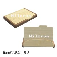 business cards - bamboo business name card holder