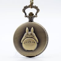 analog movie - My Neighbor Totoro Japanese Animated Film Movie Totoro Dial Quartz Pocket Watch Necklace Men Women Boy Girl Pocket Fob Watch