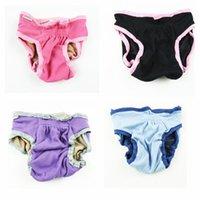 Моющиеся собаки физиологические хлопок санитарно-Симпатичные Короткие штаны Подгузник нижнее белье- для девочки Собака гигиенических хлопок Брюки