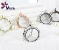 Wholesale Top quality Fashion mm Floating Locket DIY Transparent Glass Frames Floatings Charms Lockets Pendants Jewelry