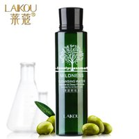 Wholesale LAIKOU Olive Oil Makeup Remover Intensive Purify Cleansing Water Skin Care Eyes Lips Face Deep Clean Cleaner Wiper ml