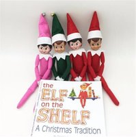 baby shelf - 100pcs Elf Christmas Shelf Doll Book Styles Elf Doll And Soft Back Books Figure Christmas Dolls Novelty Toy