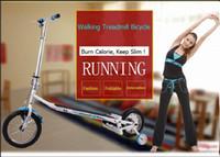 Wholesale 2017 Innovative Design Household multifunction folding treadmill running machine manual control speed adjustable runway walking bicycle