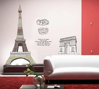 bedroom ideas decorating - Fashion simple ideas the Eiffel Tower building design high quality moistureproof mildew decorate the sitting room the bedroom wallpaper