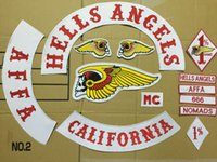 Wholesale Hells Angels Patches Motorcycle Jacket Iron On Patches CM Size California Patch DHL