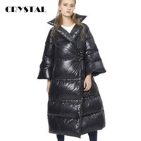 Wholesale 2016 Winter Fashion Thick Down Coat Women Casual Loose Fit Parka Jacket Super Warm Down Jacket Pagoda Sleeve Plus size