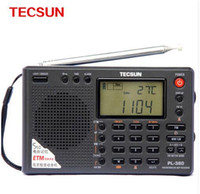 Wholesale NEW ARRIVED Tecsun PL World Full Band Stereo Radio Portable Radio Digital FM Radio Receiver LW SW MW DSP Receiver