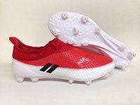 Wholesale 2017 Soccer shoe Messi Pureagility FG AG Outdoor Football shoes ACE soccer shoes Genuine leather size Eur39