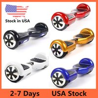 Wholesale Scotk In USA Dropshipping Smart Self Balancing Wheel Hoverboard Two Wheels Sctooers Electric Skateboard LED Scooter Inch Multicolor