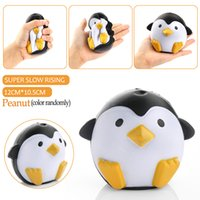 achat en gros de cadeaux doux-2017 Nouvelle marque 11CM Jumbo Kawaii Cute Penguin Squishy Slow Rising Phone Straps Soft Sweet Charm Scented Bread Cake Kid Toy Gift