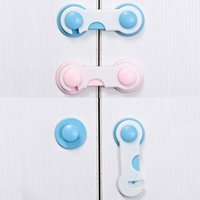 Wholesale Baby Security Lock Blue Finger Guard Child Safety For Children Door Stopper Furniture Corner Plastic Protector ABS Cabinet Lock