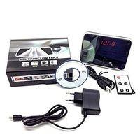 Wholesale T1000 Digital Mirror Clock Style MP Mini HD Cam Alarm Clock Video Camera DVR DV Digital Recorder Motion Remote
